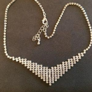 Vintage Evening Rhinestone Necklace